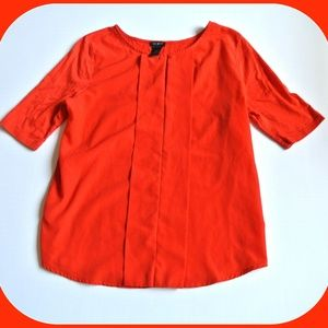 Ann Taylor Factory Top Blouse red orange
